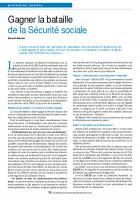 Gagner la bataille de la Sécurité sociale