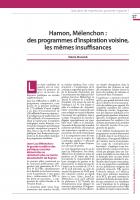 Hamon, Mélenchon : des programmes d'inspiration voisine, les mêmes insuffisances