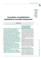 Corruption, mondialisation capitaliste et nouvelle citoyenneté