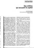 Des chiffres qui accusent le capital