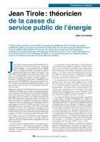 Jean Tirole : théoricien de la casse du service public de l'énergie