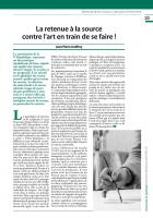 La retenue à la source  contre l'art en train de se faire !