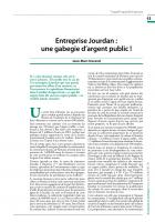 Entreprise Jourdan : une gabegie d'argent public !