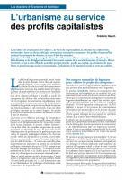 L'urbanisme au service des profits capitalistes