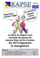 Lettre  n° 107 du 17 décembre 2012
