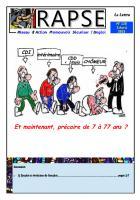 Lettre du Rapse n°126 du 3 avril 2015