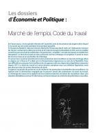 Marché de l'emploi, code du travail (Dossier)