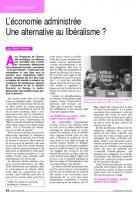 L'économie administrée : une alternative au libéralisme ?