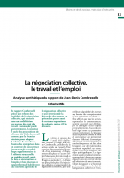 La négociation collective, le travail et l'emploi