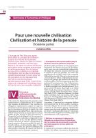 Pour une nouvelle civilisation Civilisation et histoire de la pensée (Troisième partie)