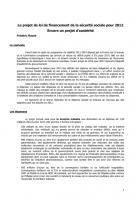Leprojetdeloi de financement de la « Sécu » 2012 Inventaire  des mesures d'austérité