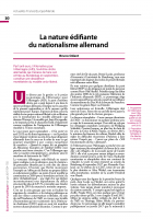 La nature édifiante du nationalisme allemand