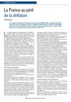 La France au péril de la déflation