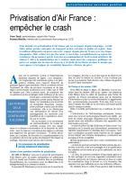 Privatisation d'Air France : empêcher le crash