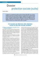 Dossier protection sociale (suite)