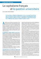 Le capitalisme français et la question universitaire