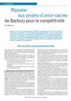 Riposter aux projets d'union sacrée de Sarkozy pour la compétitivité