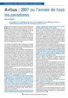 Airbus : 2007 ou l'année de tous les paradoxes