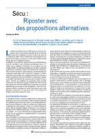 Sécu : Riposter avec des propositions alternatives