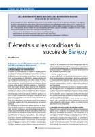 Éléments sur les conditions du succès de Sarkozy