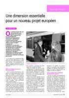 Une dimension essentielle  pour un nouveau projet européen