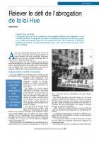 Relever le défi de l'abrogation de la loi Hue