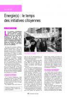 Energie(s) : le temps des initiatives citoyennes
