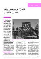 Le renouveau de l'ONU à l'ordre du jour