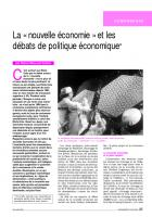La « nouvelle économie » et les débats de politique économique