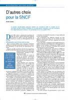 D'autres choix pour la SNCF
