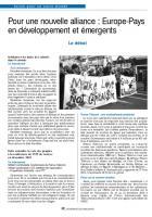 Pour une nouvelle alliance Europe-Pays émergents : le débat