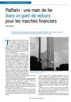 Raffarin : une main de fer dans un gant de velours pour les marchés financiers