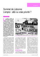 Sommet de Lisbonne  L'emploi : alibi ou vraie priorité ?