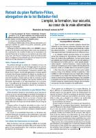 Retrait du plan Raffarin-Fillon, abrogation de la loi Balladur-Veil