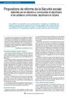 Propositions de réforme de la Sécurité sociale
