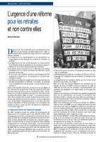 L'urgence d'une réforme pour les retraites  et non contre elles