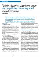 Territoire : des points d'appui pour rompre avec les politiques d'accompagnement social du libéralisme