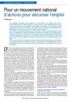 Elections régionales  et européennes : l'enjeu de l'emploi