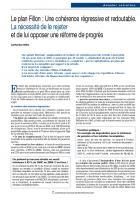 Le plan Fillon : Une cohérence régressive et redoutable.