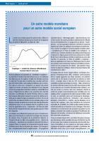 Un autre modèle monétaire pour un autre modèle social européen