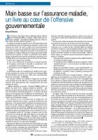 Main basse sur l'assurance maladie, un livre au cœur de l'offensive gouvernementale