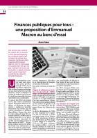 Finances publiques pour tous : une proposition d'Emmanuel Macron au banc d'essai