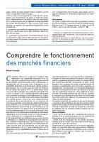 Comprendre le fonctionnement des marchés financiers