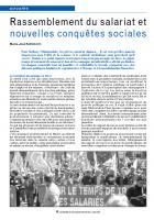 Rassemblement du salariat et nouvelles conquêtes sociales