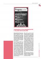 Progressistes, la revue scientifique du PCF, n°19, janvier-février-mars 2018