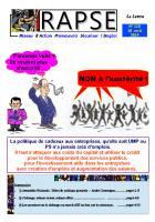 Lettre du Rapse n° 116 du 10 avril 2014