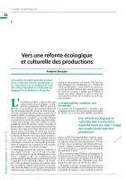 Vers une refonte écologique et culturelle des productions