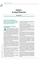 Safran : le show financier