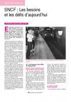 SNCF : Les besoins  et les défis d'aujourd'hui