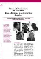 Table ronde EcoPo sur la réforme  du Code du travail : L'importance de la confrontation des idées